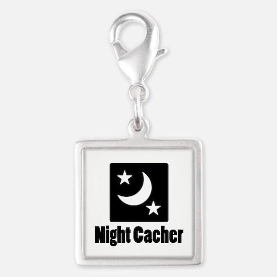 Night Cacher Silver Square Charm