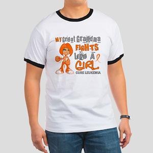 Licensed Fight Like a Girl 42.9 Leukemia Ringer T