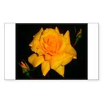 Yellow rose Sticker (Rectangle 50 pk)