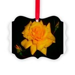 Yellow rose Picture Ornament
