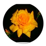 Yellow rose Round Car Magnet