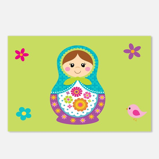 Cute Doll Postcards (Package of 8)