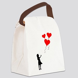 Lost Balloons Canvas Lunch Bag