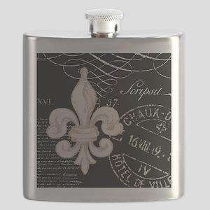 Vintage Fleur de Lis Flask