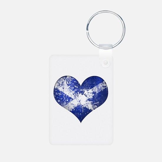 Scottish heart Aluminum Photo Keychain