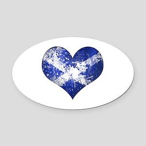 Scottish heart Oval Car Magnet