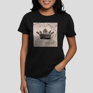 Vintage Crown Women's Dark T-Shirt