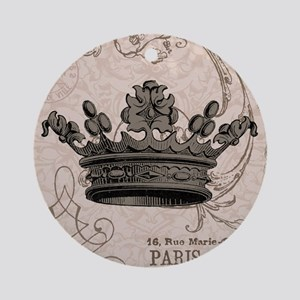 Vintage Crown Ornament (Round)