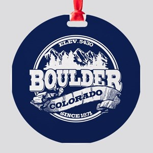 Boulder Old Circle Round Ornament