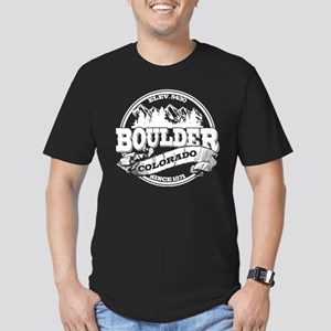 Boulder Old Circle Men's Fitted T-Shirt (dark)