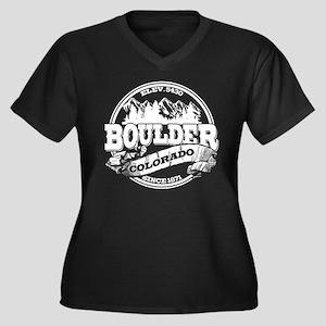 Boulder Old Circle Women's Plus Size V-Neck Dark T