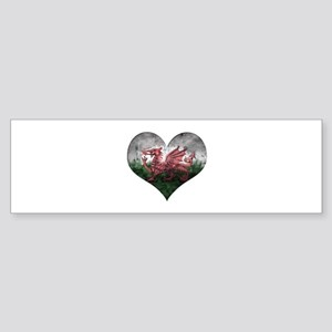 Welsh heart Sticker (Bumper)