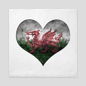 Welsh heart Queen Duvet