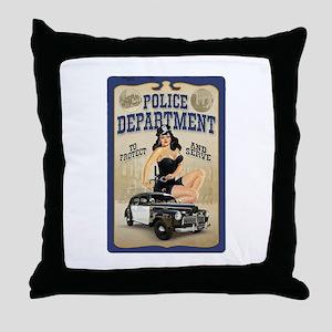 Police Department Throw Pillow