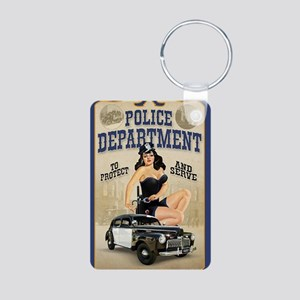 Police Department Aluminum Photo Keychain