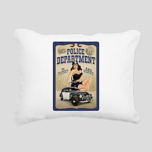 Police Department Rectangular Canvas Pillow