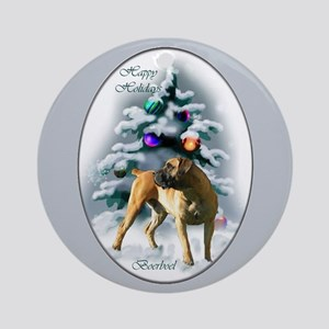 Boerboel Christmas Ornament (Round)