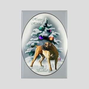 Boerboel Christmas Rectangle Magnet (10 pack)