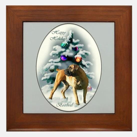 Boerboel Christmas Framed Tile