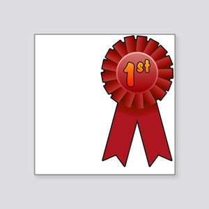 "1st Place Ribbon Square Sticker 3"" x 3"""