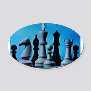 CHESS LOVE™ Oval Car Magnet