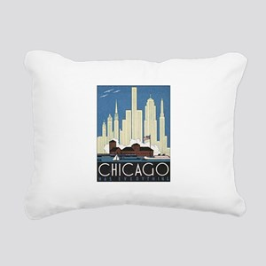 Chicago Waterfront Rectangular Canvas Pillow