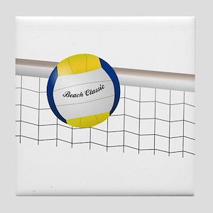 Beach Volleyball Net Tile Coaster