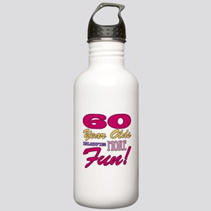 Fun 60th Birthday Gifts Stainless Water Bottle 1.0