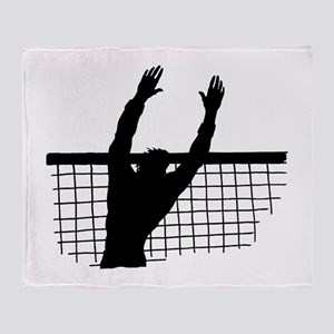 Volleyball Block Throw Blanket