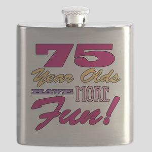 Fun 75th Birthday Gifts Flask