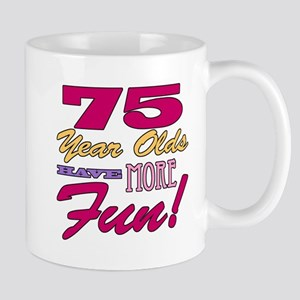Fun 75th Birthday Gifts Mug