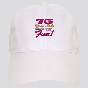 Fun 75th Birthday Gifts Cap