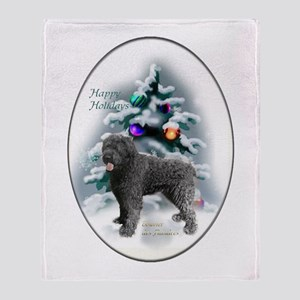 Bouvier des Flandres Christmas Throw Blanket