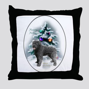 Bouvier des Flandres Christmas Throw Pillow