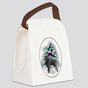 Bouvier des Flandres Christmas Canvas Lunch Bag