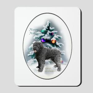 Bouvier des Flandres Christmas Mousepad