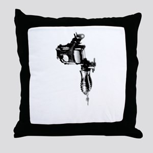 Tattoo Machine Gun Pop Art Throw Pillow