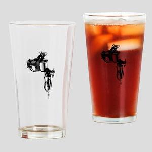 Tattoo Machine Gun Pop Art Drinking Glass