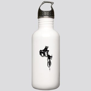 Tattoo Machine Gun Pop Art Stainless Water Bottle