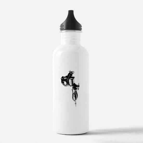 Tattoo Machine Gun Pop Art Water Bottle