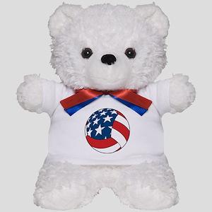 American Flag Volleyball Teddy Bear