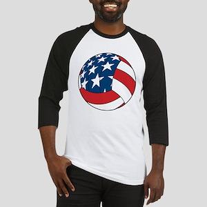 American Flag Volleyball Baseball Jersey
