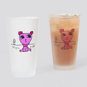 Snowflakes the Cat Drinking Glass