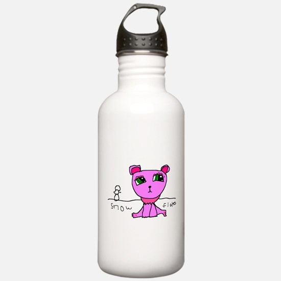 Snowflakes the Cat Water Bottle