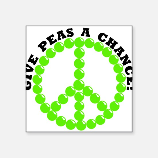 Give Peas A Chance Rectangle Sticker