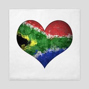 South African heart Queen Duvet