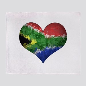 South African heart Throw Blanket