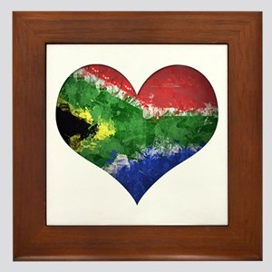 South African heart Framed Tile