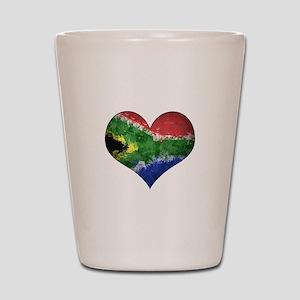 South African heart Shot Glass
