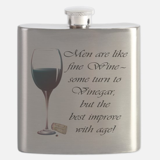Men are like fine Wine Flask